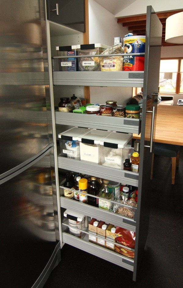 Lauren and kyle 39 s sleek warm seattle kitchen warm for Cost to build a pantry
