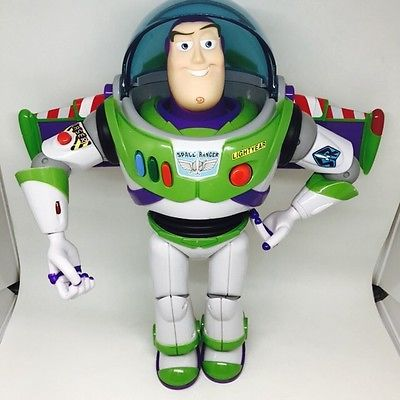 "Toy Story Buzz Lightyear Talking Light 12"" Action Figure Disney Pixar Thinkway"