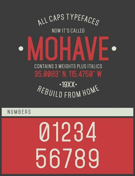 free fonts 2014 mohave