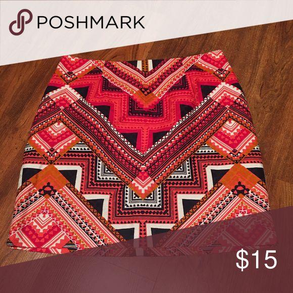 "Aztec skirt NWOT, 18"" long. Merona Skirts"