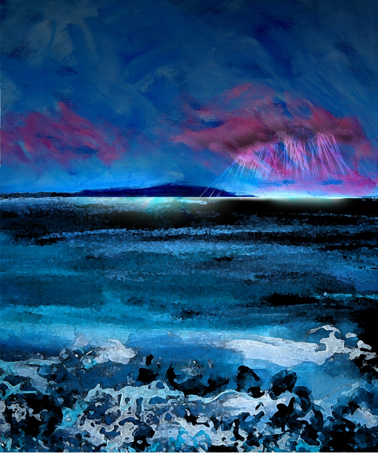 my painting a Scotland sea view