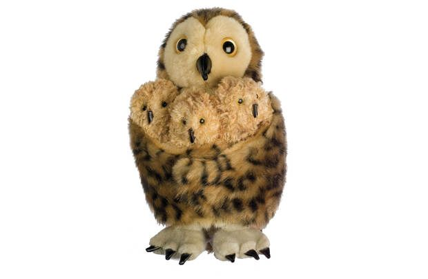 The Puppet Company Tawny Owl and 3 Chicks Puppet