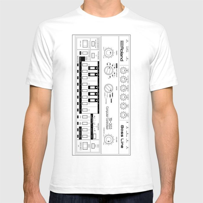 Buy Roland TB-303 Bass Line Wireframe T-shirt by sitchko. Worldwide shipping available at Society6.com. Just one of millions of high quality products available.