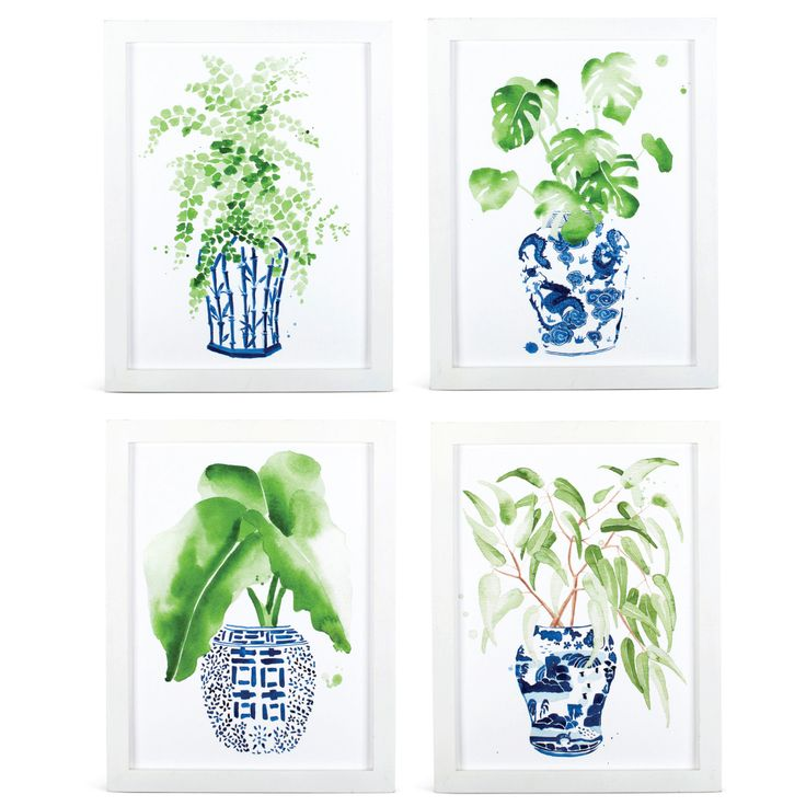 Ginger Jar &  Fern Prints