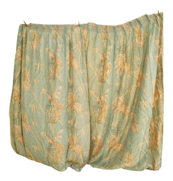 """Bird of Paradise"" Panel Curtain Drapes - a Pair on Chairish.com"