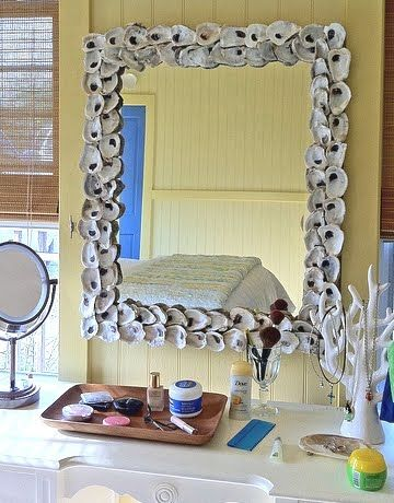 decorate mirror frame like currey and companys oyster shell mirror - Decorate Mirror Frame