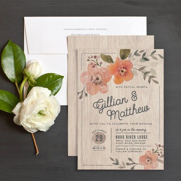 Rustic Love Wedding Invitations by Jennie Hake | Elli