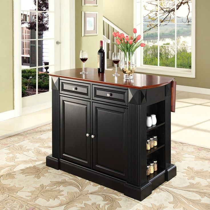 Have to have it. Drop Leaf Breakfast Bar Top Kitchen Island $699