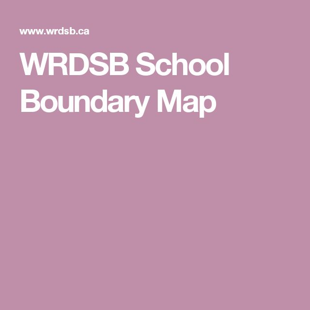 WRDSB School Boundary Map