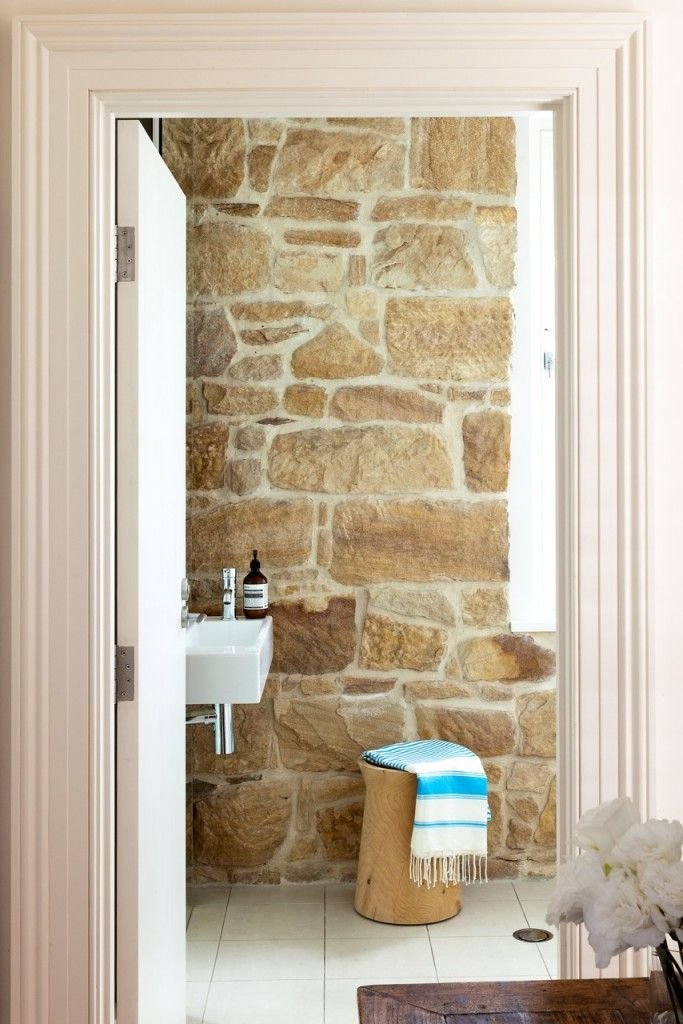 stone wall, Contemp Sink