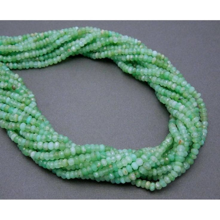 Loose stone beads jewelry making wholesale lot 5 strand of genuine chrysoprase 4-4.5 mm faceted rondelle beads 13 strand https://www.etsy.com/listing/568905378/loose-stone-beads-jewelry-making?utm_campaign=crowdfire&utm_content=crowdfire&utm_medium=social&utm_source=pinterest