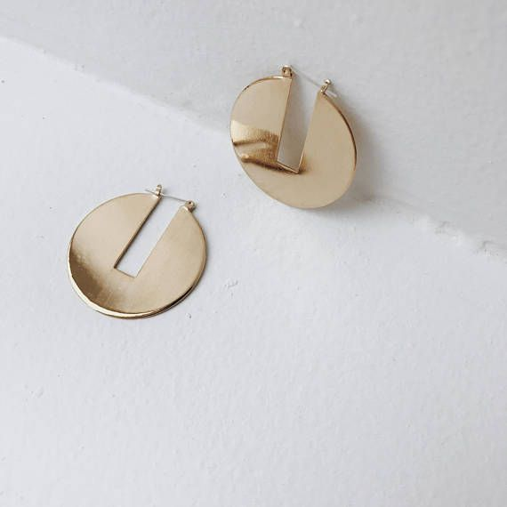 Gold Statement Earrings Large Gold Earrings Big Gold Hoops