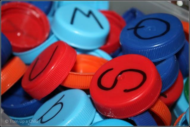 Train Up a Child:DIY alphabet  Manipulatives for Preschool and Kindergarten