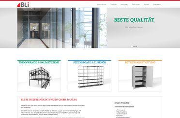 Webseite BLi Betriebseinrichtungen