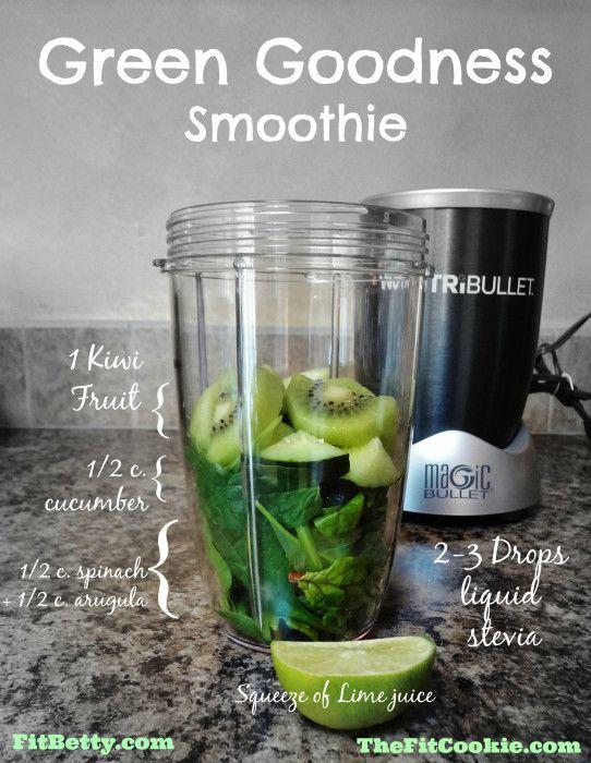 Green Goodness Smoothie - @TheFitCookie #smoothie