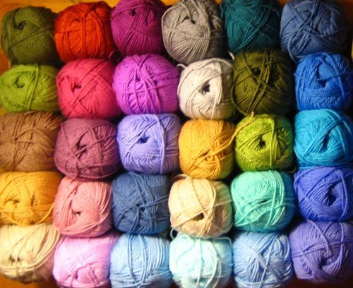 Colours for Attic 24's cottage ripple blanket
