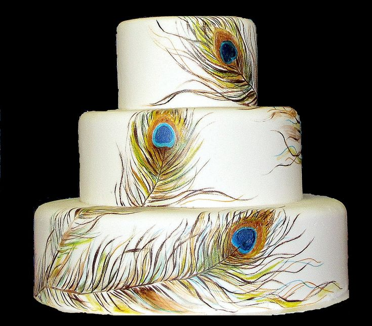 Peacock Feather Wedding Cake: Say It Sweetly 2....... Ms Debbie's SugarArt: Peacock