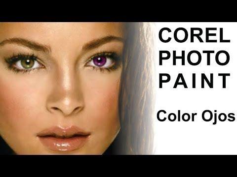 Corel PHOTO-PAINT Cambiar color de ojos, Objetos y matiz. @ADNDC @adanjp - YouTube