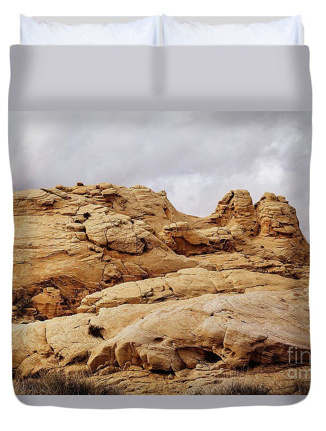 My Yellow Rocks by Evgeniya Lystsova   Scenic landscape of rock formation at Valley of Fire State Park, southern Nevada, USA. Art for your Home Decor and Interior Design. Our soft microfiber duvet covers are hand sewn and include a hidden zipper for easy washing and assembly. Your selected image is printed on the top surface with a soft white surface underneath. All duvet covers a machine washable.