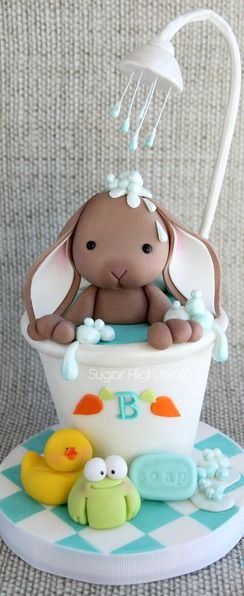 Bunny in the Tub Cake                                                                                                                                                                                 Me (Baking Sweet Eggs)