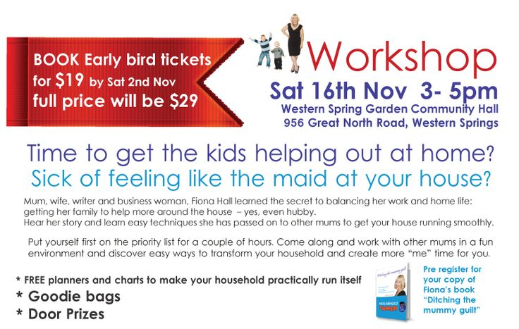 Sat 16th November we are running another workshop for mums. To purchase your ticket