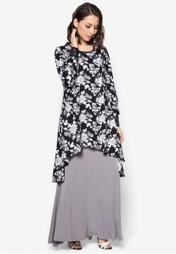 Black Floral Fishtale Kurung from Aqeela Muslimah Wear in Black Inspired by the elegance of mermaids, Aqeela Muslimah Wear channels a sense of modesty with a hefty dash of modern aesthetics into this gorgeous creation. Tailored with a mermaid construction that simply ooze with effortless sophistication, y... #bajukurung #bajukurungmoden