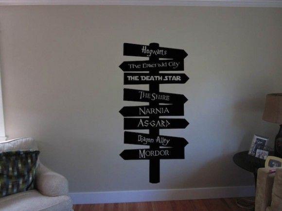 Adesivo de parede geek te mostra o caminho para Hogwarts, Narnia, Estrela da Morte e muito mais | ROCK N TECH
