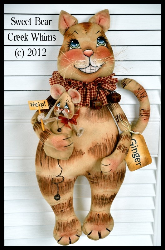 Cat And Mouse Primitive Wall hanging Pattern http://www.sweetbearcreekwhims.com/catalog.php?category=27#