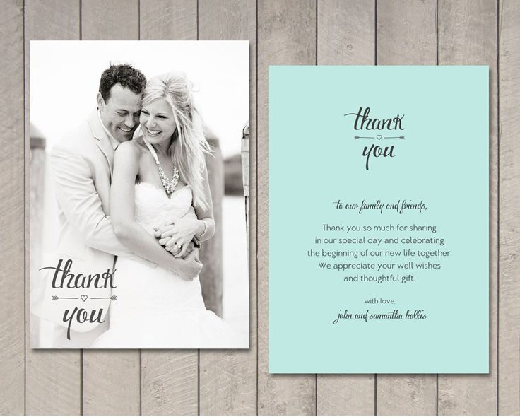 12 Best Wedding Thank You Examples Images On Pinterest