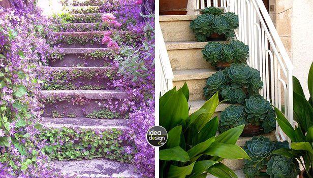 Decorare le scale esterne con i fiori! 20 idee creative...
