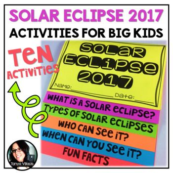 This purchase contains 10 activities for the 2017 Solar Eclipse. You do not want to miss this exciting experience if you are in school and located in the United States! Activities include: ➥Two page article on the 2017 solar eclipse ➥Path of Totality sheet for