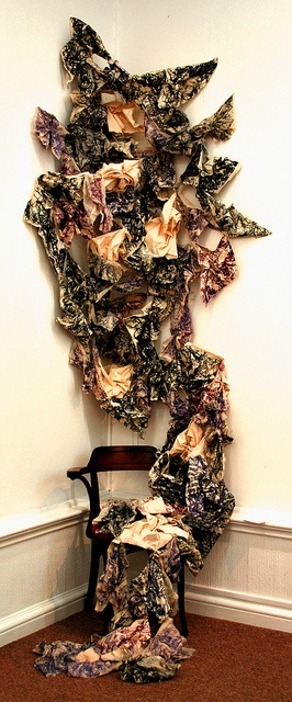 Opinion Is Identity by By Katie Lewis, via Flickr. Textiles instillation artists. Links to her blog