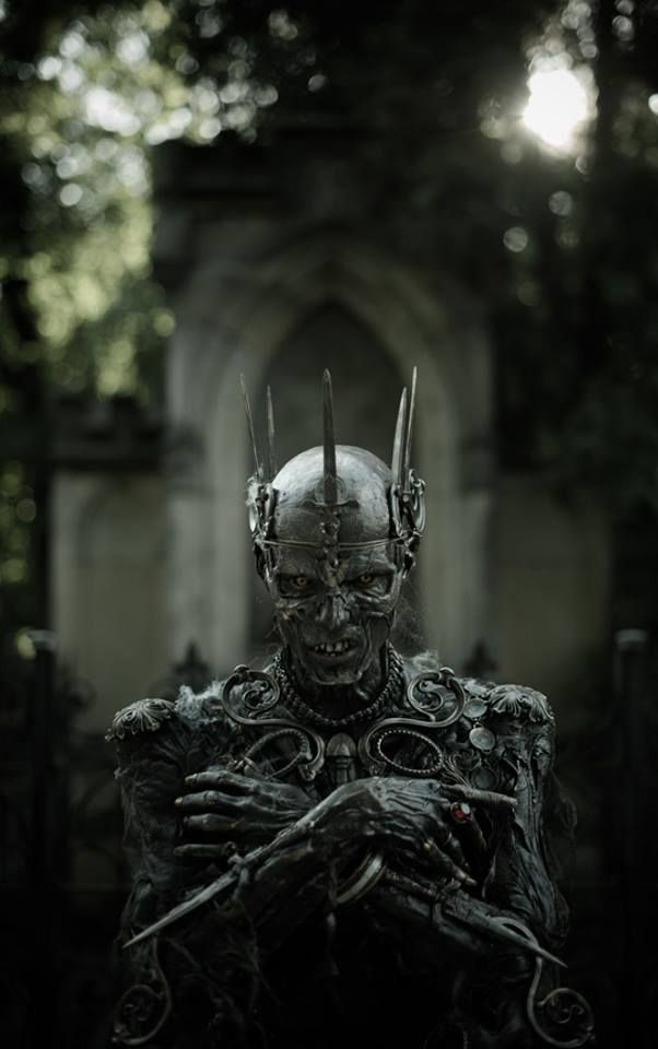 King of the Zombie. Сemetery. Photo: Ilja Hubálek Actor: Josef Rarach FX Makeup: Vlad Taupes (studio FX Creator, Barrandov)