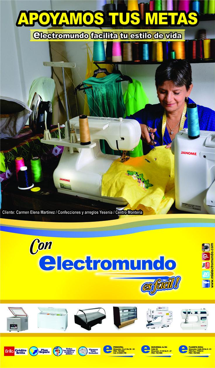 Apoyamos tus metas, en Electromundo facilitamos la compra de tu electrodoméstico para esas ideas de crecimiento que tienes