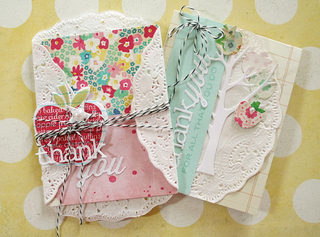 Thank You Cards by Danielle Flanders for Papertrey Ink (September 2013)
