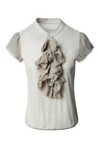 Ruffle shirt by Marc Cain