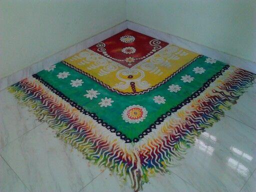 Beautiful corner rangoli