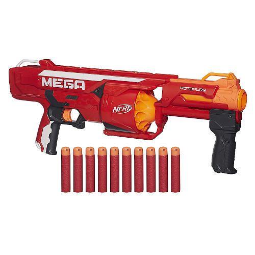"""NERF N-Strike Mega Series RotoFury Blaster - Hasbro - Toys """"R"""" Us"""