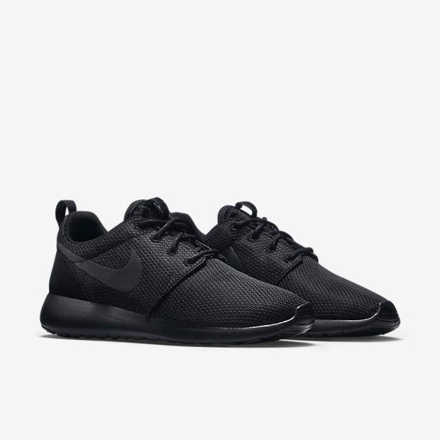Nike Roshe Courir Feuille Noir / Noir / Rose / Gril À Charbon Noir