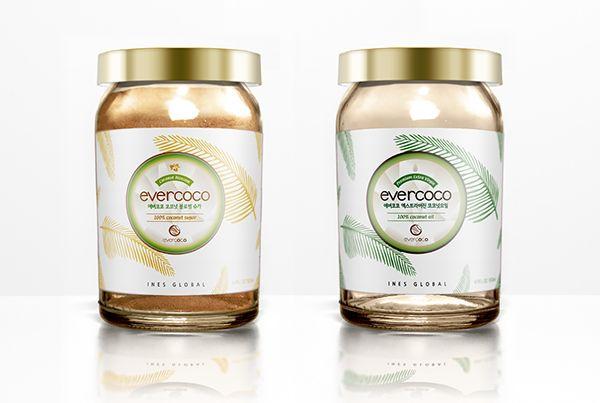 evercoco coconut oil, sugar package 에버코코 코코넛오일,슈가 패키지 디 on Behance