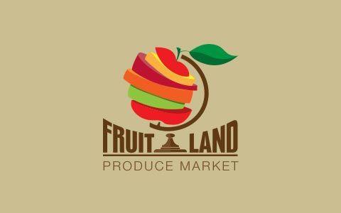 logo sur le thème des fruits. Extrait du blog john's graphisme.