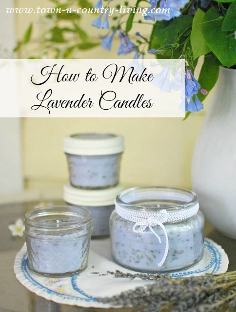 See how easy it is to make lavender scented candles in jars!
