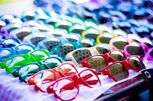 rayban wayfarer neon! Real product photo show! mk@play inspiration love brite colors