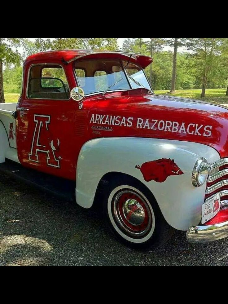 This would be too much fun to drive to an #ArkansasRazorbacks game and then tailgate with your friends and loved ones.
