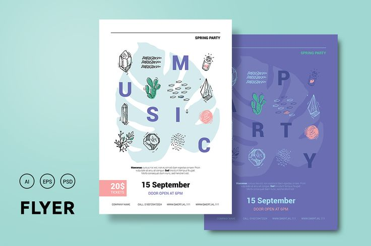 Hipster poster for the event.  - Flyers - 1