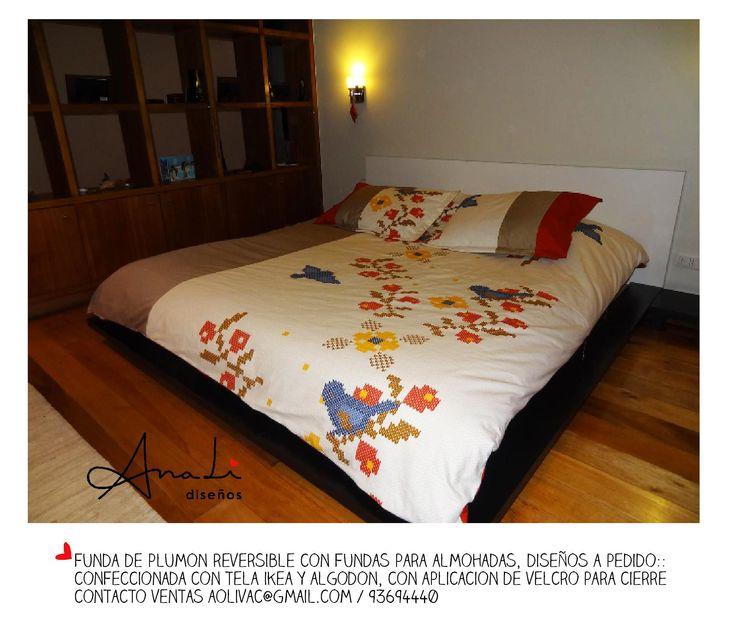 Elige tu Color y Tela favorita y diseñamos tu Exclusiva Funda de Plumón con Fundas para almohadas.