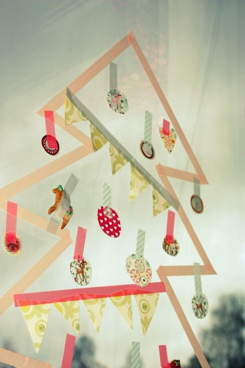 washi tape christmas tree