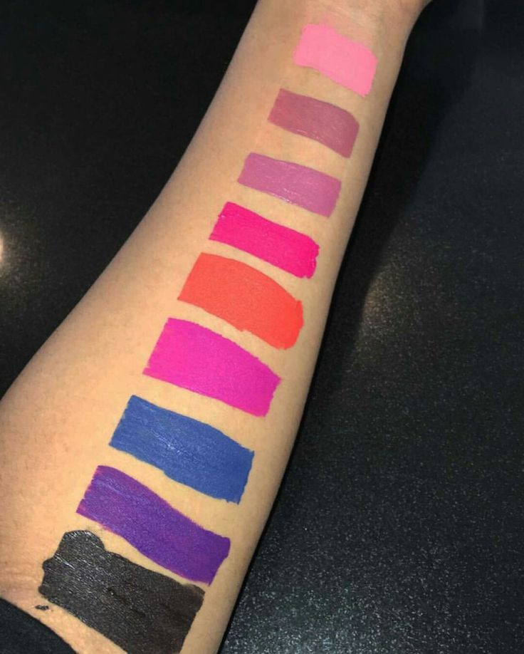 New Lashed Matte Liquid Lipstick Swatches by Blac Chyna