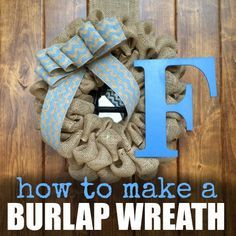 see how to make burlap wreath for $15 or less. This easy burlap wreath is beautiful and frugal. Make this burlap wreath for any season of the year.