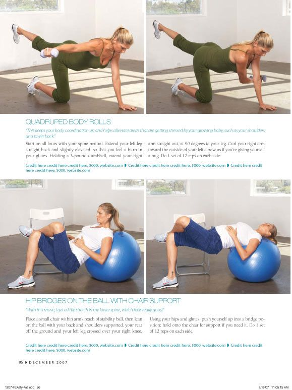 Pregnancy Exercises from Pregnancy Magazine Part 1